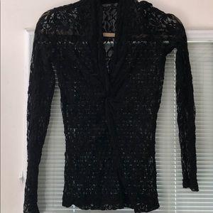Karen Kane lace long sleeve top